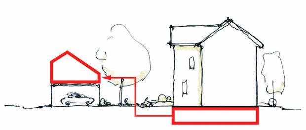 Laneway housing sketch by Lanescape.