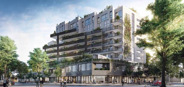 A rendering of Windmill Development's The Plant condos on Queen Street West.