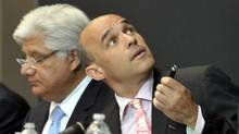 RIM's Mike Lazaridis, left, and Jim Balsillie (J.P. MOCZULSKI)