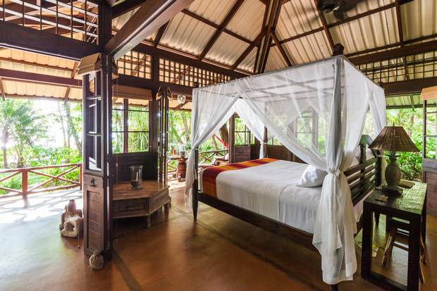 Latitude 10 in the Costa Rican surf town of Santa Teresa has open-air rooms that let you blend into the surrounding jungle.