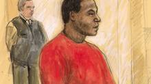 Charles Kembo is shown in a courtroom sketch from 2005. (Sheila Allan)