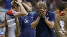 United States' head coach Juergen Klinsmann reacts to loss. (Matt Dunham/AP)