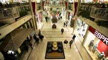 File photo shows shoppers at Sherway Gardens mall in Toronto. (Kevin Van Paassen/The Globe and Mail)