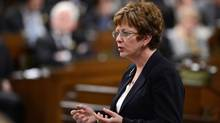 Minister of Human Resources Diane Finley responds to a question during question period in the House of Commons on Parliament Hill in Ottawa on Thursday, April 25, 2013. (Sean Kilpatrick/THE CANADIAN PRESS)