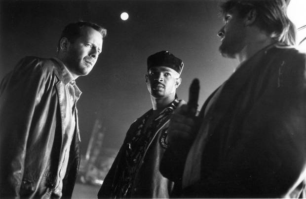 Bruce Willis (left) and Damon Wayans in The Last Boy Scout.