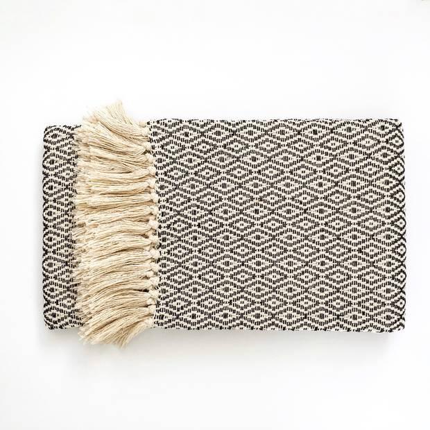 Casa Cubista fringed blanket, $125 at Saudade (saudadetoronto.com).