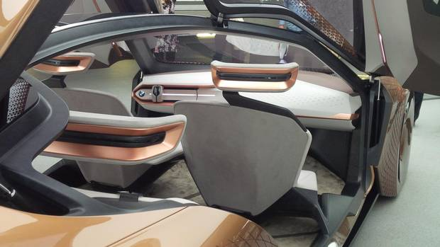The BMW Vision Next 100 displayed at an event in Germany.