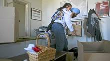 May 11, 2011: Outgoing Liberal MP Navdeep Bains with the help of his daughter Nanki Kaur Bains 3 1/2yr packs up his Parliament Hill office in Ottawa. (DAVE CHAN for The Globe and Mail)
