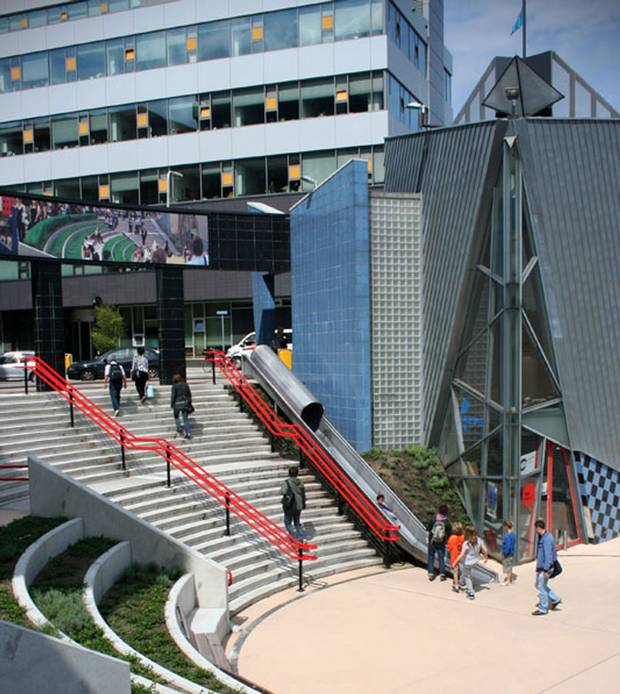 A slide at the Overvecht Train Station in the Dutch city of Utrecht is dubbed the 'transfer accelerator,' and is billed as a faster way for passengers to get where they're going.