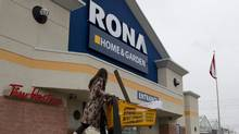 An unidentified customer walks out of a Rona store in Toronto's east end on Wednesday February 22, 2012 .Photo by Chris Young for The Globe and Mail (Chris Young/Chris Young for The Globe and Mail)