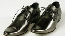 File photo of silver leather oxfords by Ted Baker. (Yvonne Berg for The Globe and Mail)