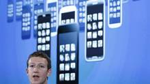 Mark Zuckerberg, Facebook's co-founder and chief executive during a Facebook press event in Menlo Park, California, April 4, 2013. (ROBERT GALBRAITH/REUTERS)