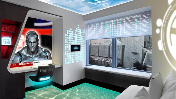 Envisioning the 'smart hotel room' of the future.