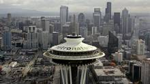 Seattle's landmark Space Needle is shown on Friday, Oct. 20, 2006, just north of downtown Seattle. (Associated Press)