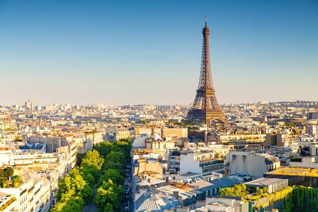 panoramic view of paris, france.