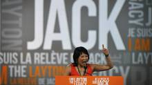 MP Olivia Chow speaks to supporters during a tribute to Jack Layton at the NDP leadership convention at the Metro Toronto Convention Centre in Toronto, Ont. Friday, March 23, 2012. (Kevin Van Paassen/Kevin Van Paassen/The Globe and Mail)
