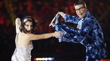 Jamie Sale and Craig Simpson perform a tribute to Austin Powers for the November 1 episode of CBC Television's BATTLE OF THE BLADES. This is Week 5 of the seven-week series where contestants compete for a chance to win $100,000 for the charity of their choice. CBC