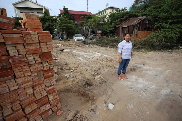Cambodian activist Song Srey Leap has attended numerous protests at this site in Phnom Penh. But it has grown dangerous to hold public events amid a government crackdown, she said.