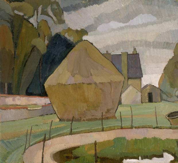 Landscape with Haystack, Asheham, 1912.