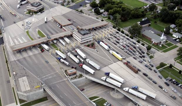 Vehicles entering the U.S. from Sarnia, Ont.