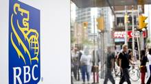 An RBC bank on Toronto's Bay Street. (Gloria Nieto/The Globe and Mail)