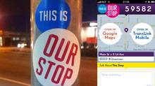 This Is Our Stop officially launches Thursday in Vancouver. It has no affiliation with Vancouver's TransLink, but its creators plan to release it as an open-source project, so any interested transit authorities can create their own version. (Thisisourstop.com)