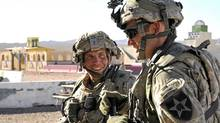Army Staff Sgt. Robert Bales, left, at Fort Irwin and the National Training Center in Califorinia, Aug. 23, 2011, in a handout photo (Spc. Ryan Hallock, Defense Video & Imagery Distribution System/Spc. Ryan Hallock, Defense Video & Imagery Distribution System)