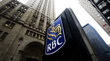 A photograph of the Royal Bank of Canada sign at its head office in downtown Toronto on Dec. 2, 2011. (Nathan Denette/The Canadian Press)