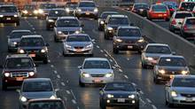 Toronto rush hour traffic heading west on the Gardiner Expressway. (Moe Doiron/Moe Doiron/The Globe and Mail)