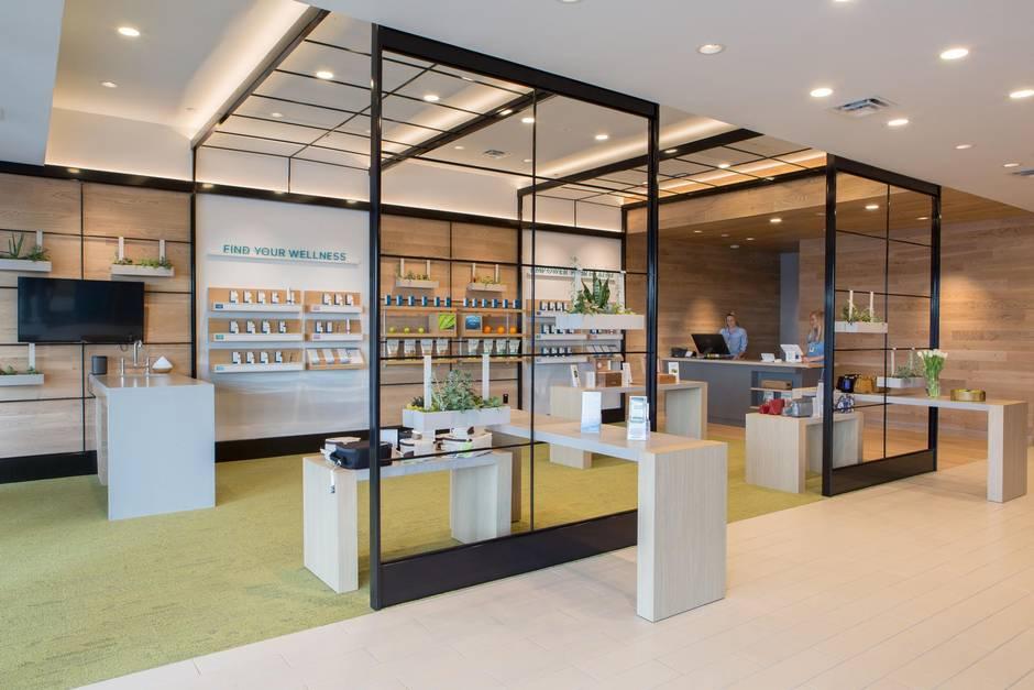 Sleek stylish look elevates marijuana retail the globe and mail - Cannabis interior ...