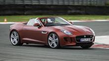 The entry model with its 340-horspower, supercharged V-6 starts at $76,900 (Jaguar)