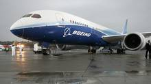 The Boeing 787 Dreamliner sits on the tarmac at Boeing Field in Seattle, Washington after its maiden flight, December 15, 2009. (ROBERT SORBO/Reuters/ROBERT SORBO/Reuters)