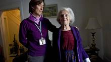 Stephanie Sanders, left, relocated Dorothy Kingscott to a warm nursing home. (Kevin Van Paassen/The Globe and Mail)