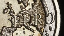 The map of Europe is featured on the face of a two Euro coin seen in this photo illustration taken in Rome, December 3, 2011. (TONY GENTILE/TONY GENTILE/REUTERS)