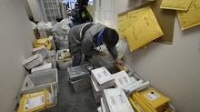 What started out as a side business from book store postal deliveries has become a postal delivery type service for owner Derek Nolan. (Fred Lum/The Globe and Mail)