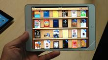 The iBooks library is seen on an iPad mini. (Shane Dingman/The Globe and Mail)
