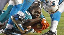 A Miami Dolphins helmet is seen in this file photo. (JOE SKIPPER/REUTERS)