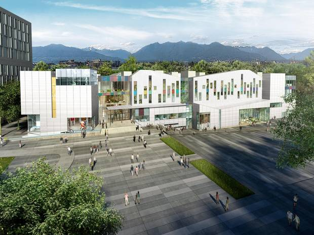 A rendering of the new Emily Carr University.