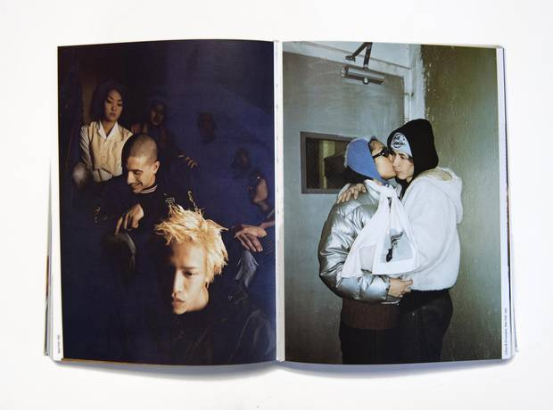 Photos from one of Wolfgang Tillmans's books. These images are among those that first brought Tillmans recognition.