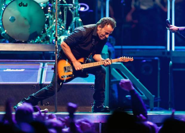 Bruce Springsteen and The E Street Band play the Izod Center in East Rutherford, N.J., April 3, 2012. Adding to a chorus of condemnations of North Carolina's new law restricting transgender rights, Springsteen canceled an upcoming performance in the state.