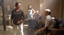"Tom Cruise, Paula Patton, Simon Pegg and Jeremy Renner are shown in a scene from ""Mission: Impossible - Ghost Protocol."" (David James/Paramount Pictures)"
