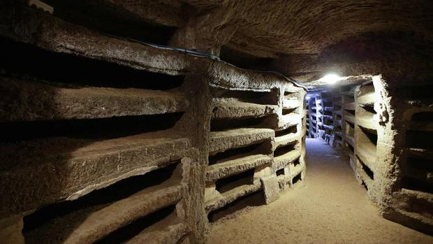 The catacomb of Priscilla in Rome was used for Christian burials from the late 2nd century through the 4th century. (MAX ROSSI/REUTERS)