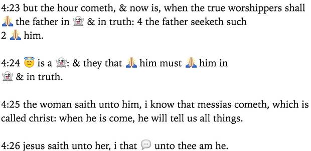 An excerpt from the Emoji Bible