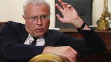 Russian tycoon Alexander Lebedev speaks during an interview at his office in Moscow Aug. 2, 2012. (MIKHAIL VOSKRESENSKY/REUTERS)