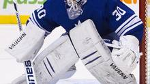 Toronto Marlies goalie Ben Scrivens made 19 saves in Wednesday's 3-2 AHL victory over the Hamilton Bulldogs (file photo). (FRED THORNHILL/REUTERS)