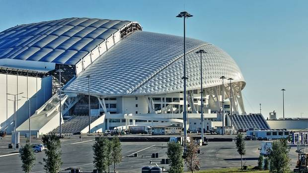 Vladimir Putin's government has clear aims to use the $50-billion Sochi Games to transform the Russian city with new sports and recreation venues, and this, the Fisht Olympic Stadium, is the showpiece.