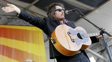 Wilco lead singer Jeff Tweedy performs at theNew Orleans Jazz and Heritage Festival in New Orleans, Thursday, May 5, 2011. (Patrick Semansky/ The Associated Press/Patrick Semansky/ The Associated Press)