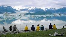 On a 12 day river trip there's time to contemplate the quiet waters of Alsek Lake. (Bruce Kirkby)