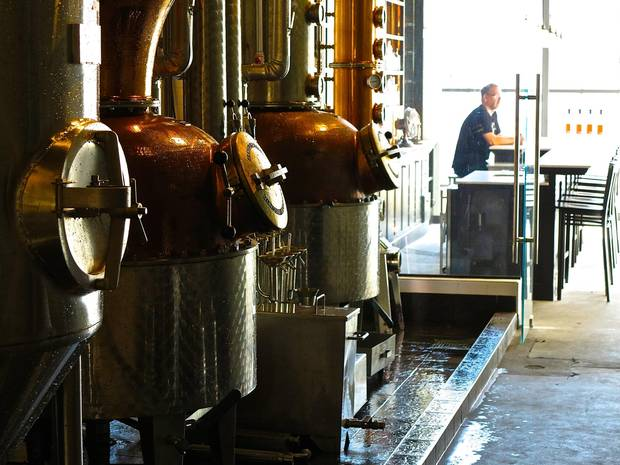 British Columbia distillers, like Odd Society, seen here, are setting up a tourist trail to get tasters to visit locations in Vancouver, Victoria and the Okanagan.