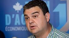 Dean Del Mastro, MP for Peterborough, announces the launch of a new loans program worth $20M for Southern Ontario businesses at the offices of the Eastern Ontario Community Futures Development Corp. in Peterborough, Ont., on Wednesday, July 4, 2012. (Peter Redman/THE CANADIAN PRESS)